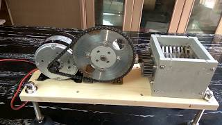 home make mini shredding Part 2 ,250W DC motor Recycling 3D printing plastic