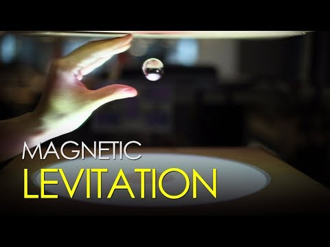 Magnetic levitation allows this ball to float in space