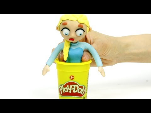 Elsa clay costume 馃挄Superhero Play Doh Stop motion cartoons