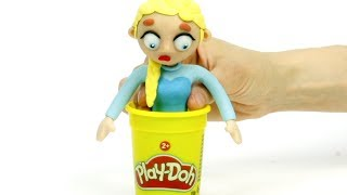Download Elsa clay costume 💕Superhero Play Doh Stop motion cartoons Mp3 and Videos