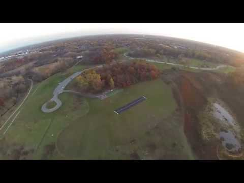 Aerial video north suburbs of chicago palatine illinois airfield.