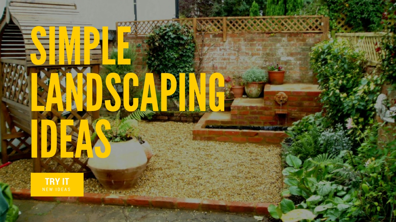Simple landscaping ideas easy diy landscaping projects for Simple diy garden designs