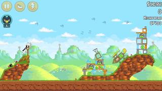 RECORD ONE BIRD Angry Birds level 24-5 : Red`s Mighty Feathers 3 stars HD | Android 2017