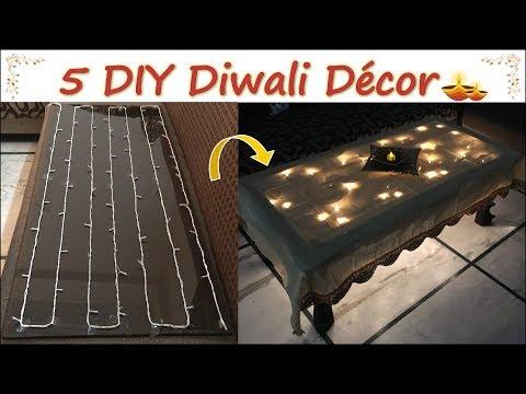 5 DIY Diwali Decor | Quick And Easy Diwali Decoration Ideas | Last Minute Diwali Decor | Her Fab Way