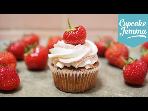 Get Strawberries and Cream Cupcakes | Cupcake Jemma Pictures