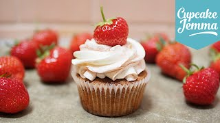 Strawberries and Cream Cupcakes | Cupcake Jemma