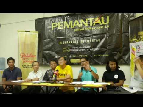 Bersih 2.0, SUARAM and Pusat Komas launched Election Monitoring Operation - PEMANTAU