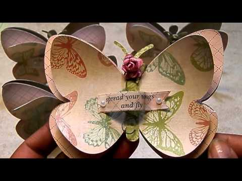 Mini Butterfly Shape Note Cards