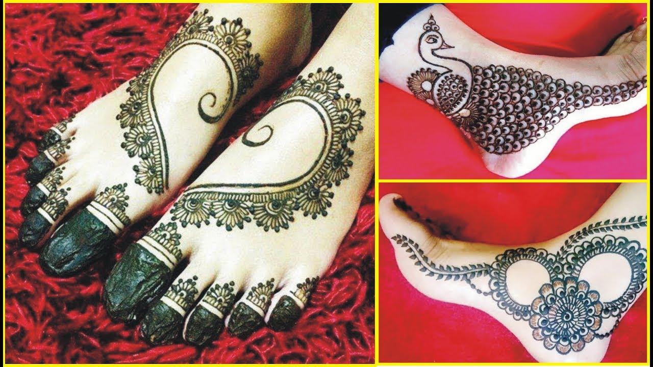 Latest Mehndi Designs For Feet Foot Mehndi Design 2018 Leg Henna