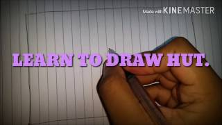 How to draw HUT/Home/HOUSE✔