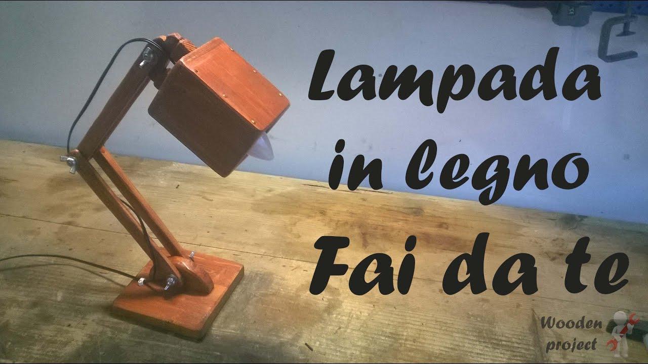 Come costruire una lampada in legno lampada in legno fai for Youtube legno fai da te