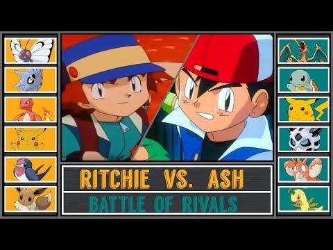 Ash vs. Ritchie (Pokémon Sun/Moon) - Kanto Rival Battle/Rematch