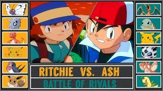 Ash vs. Ritchie (Pokémon Sun/Moon) - Kanto Rival Battle/Rematch