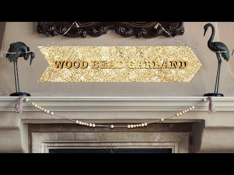 Wood Bead Garland!