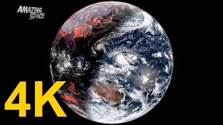 Time Lapse Video | Earth From Space: 4K / UHD video One month Seen From Himawari 8 Satellite