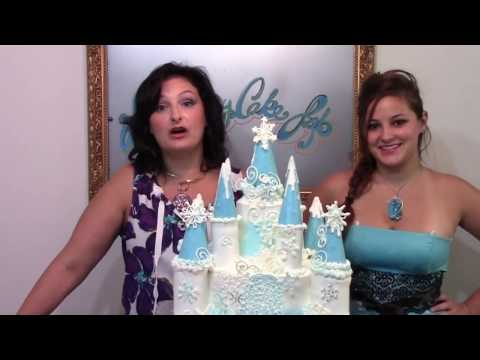 How To Make A Frozen Castle Cake Cake Decorating YouTube