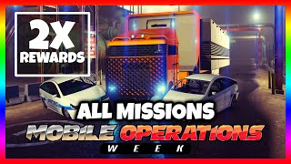 ALL MOBILE OPERATIONS CENTER MISSIONS GAMEPLAY / GUIDE | Double Money - GTA 5 ONLINE [Easy Money]