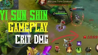 Yi Sun-Shin Gameplay! Crit Damage   Mobile Legends