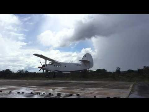 Antonov AN2 Landing at Canaima Venezuela