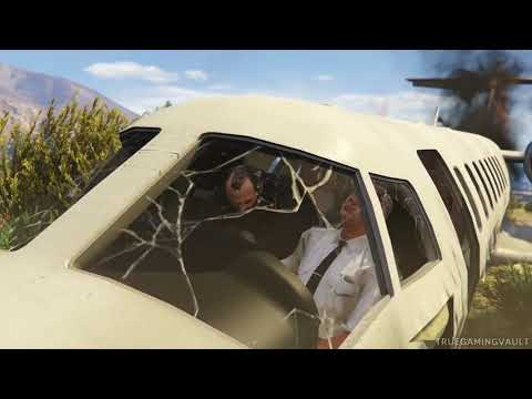 GTA 5 ~ Plane Crash Landing ~ Mission ~ Shooting Down Private Jet