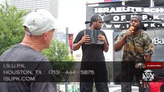 ISUPK HOUSTON- WHITE MAN GETS A REALITY CHECK AND IS OVERCOME WITH SORROW