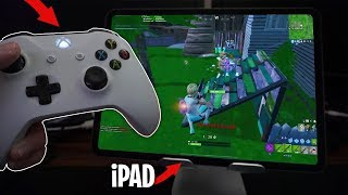 I played Fortnite Mobile with an XBOX CONTROLLER! (actually works)