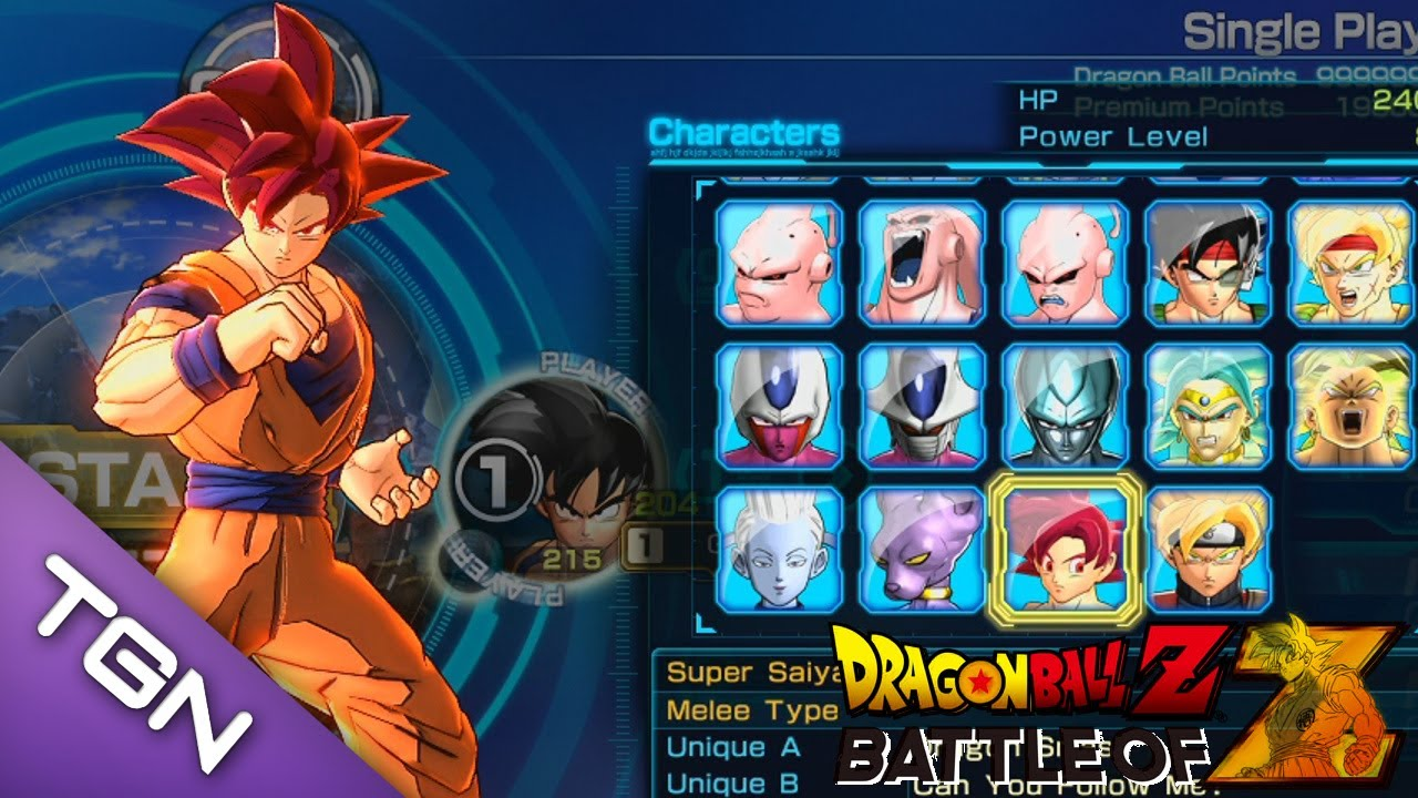 dragon ball z battle of z how to get characters