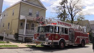 Totowa NJ Fire Dept Truck 1, Engine 971, Rescue 4 Responding 48 Charles St for a Kitchen Fire