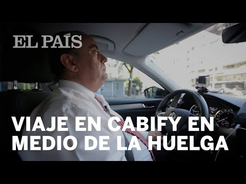 Viaje en un coche CABIFY en un día de HUELGA DE TAXIS | España