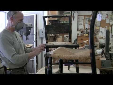 Recreating Side Rails For A Hitchcock Chair   Thomas Johnson Antique  Furniture Restoration   YouTube