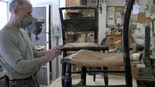 Recreating Side Rails For A Hitchcock Chair - Thomas Johnson Antique Furniture Restoration