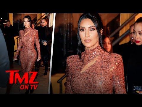 Kim Kardashian Looks INCREDIBLE In Skin Tight Snake Dress   TMZ TV thumbnail