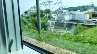 4K 山陽本線 227系 A21 車窓風景 備後赤坂~福山 4734M 下り本線 逆走