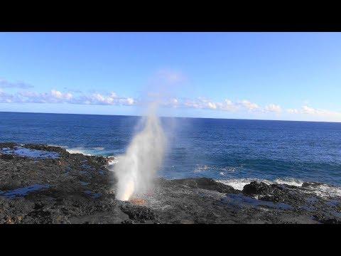 ポイプ 潮吹き岩 :Spouting Horn, Poipu kauai . /ぶらり旅ハワイ