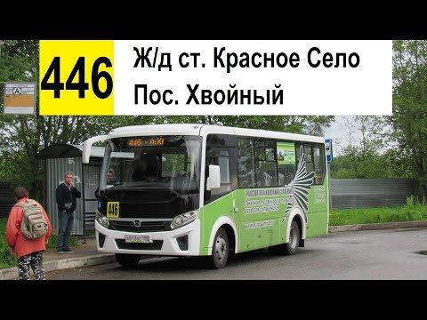 """Автобус 446 """"Пос. Хвойный - ж/д ст. """"Красное Село"""""""
