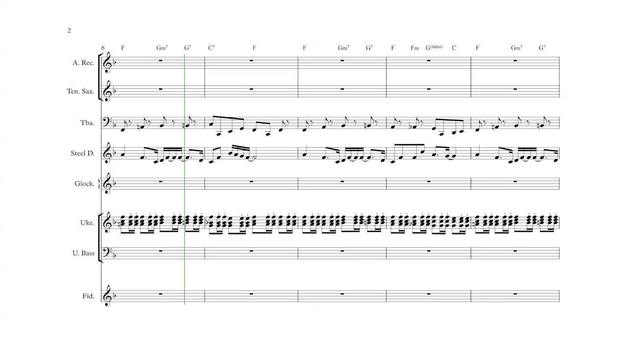 Super Mario World (SNES) - Overworld Theme - Ensemble Sheet Music + Chords