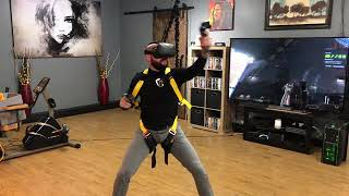 Weightless VR - A weightless, in home virtual reality bungee system.