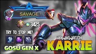 Karrie Savage Perfect! 3425 Mythical Glory is REAL!! ɢᴏsᴜ ɢᴇɴ x ~ Mobile Legends
