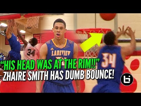 'HIS HEAD WAS AT THE RIM!!' 76ers Zhaire Smith Best Athlete in NBA Draft?