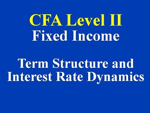 2015- CFA Level 2 - Fixed Income - Term Structure and Interest Rate Dynamics- Part 1 (of 5)