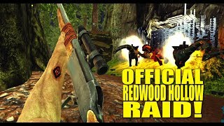Official 605 redwood hollow raid! (official ark raids) - ark:survival evolved - ep.1