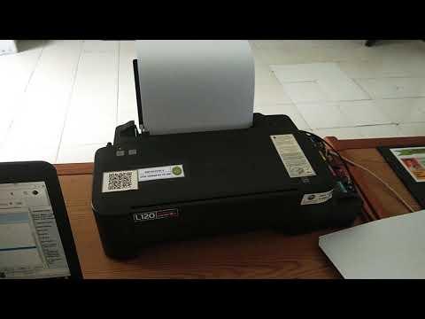 Cara memperbaiki error printer epson L120, dimana lampu indikator menyala bersamaan. Error terjadi d.