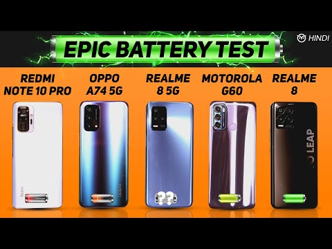Realme 8 5G vs Realme 8, Note 10 Pro, Moto G60, OPPO A74 Battery Drain Test | Charging | Gaming Test
