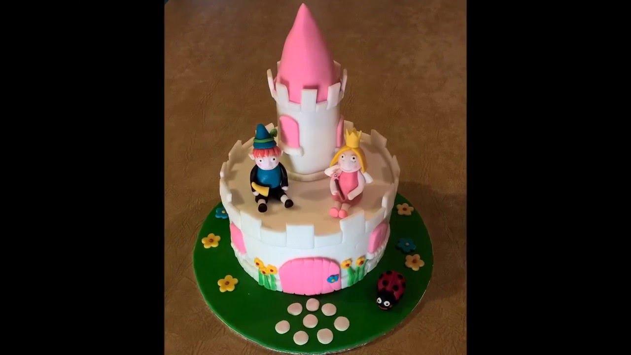 Ben & Holly Birthday Cake - YouTube  Ben & Holly Bir...