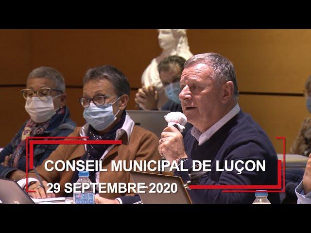 Conseil municipal de Luçon du 29 septembre 2020
