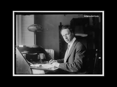Ossip Gabrilowitsch, piano - Gabrilowitsch - Melody In E Minor, Op. 8 (May 13th, 1924)