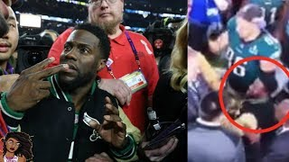 Kevin Hart Drunk And Embarrasses Himself At The Super Bowl