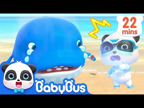 Baby Whale Got Injured | Super Panda Rescue Team | Panda Cartoon | Kids Song | BabyBus