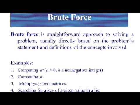 Brute Force Algorithm Design Technique