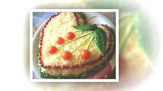 Идеи для оформления салатов